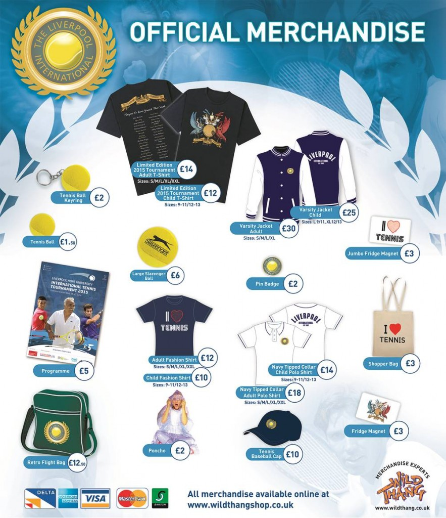Merchandise - Williams BMW Liverpool International Tennis ...