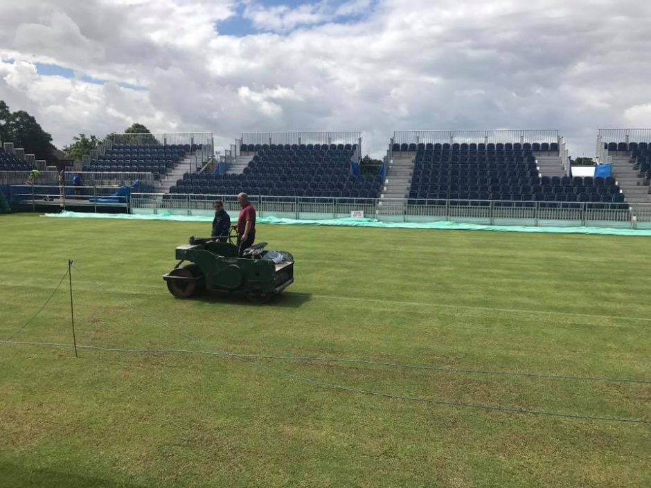 Centre Court with groundsman