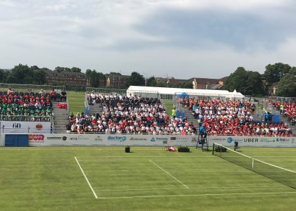 Qualification finals watched by 750 local school children