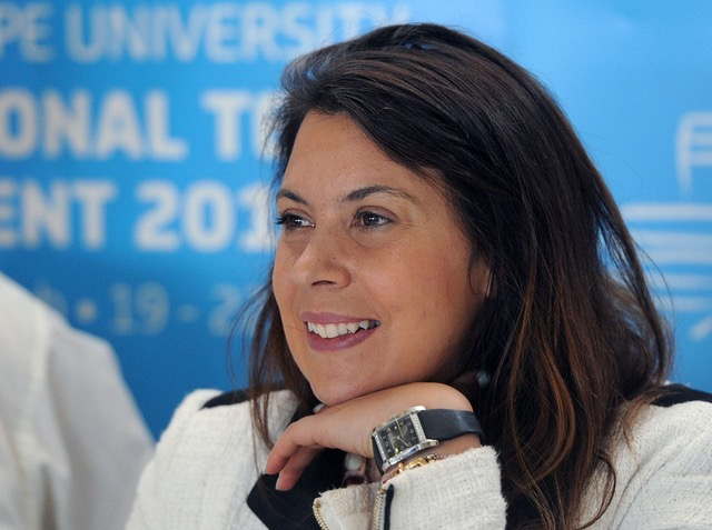 Marion Bartoli at the press conference