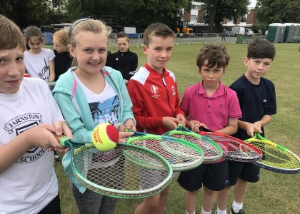 750 Kids enjoy smashing day at the tennis