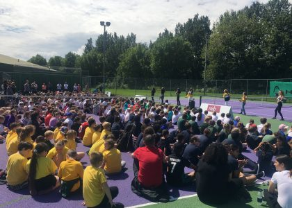Over 500 children across Merseyside introduced to tennis by professional players